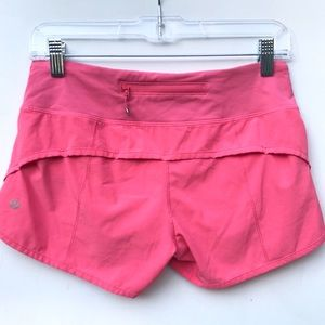 LULULEMON pink speed  shorts 4